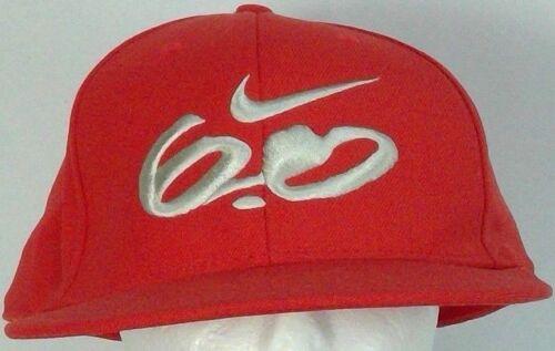 Nike 6.0  mens baseball cap red-orange wool men 7 1/4 white embroidered logo 6.0