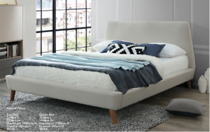 Eva Range Upholstered Queen Bed (Brand New) #8893