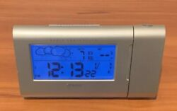 Oregon Scientific Projection Weather Clock Radio Controlled Silver BAR624PA