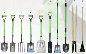 Gardening Shovel Round/Square, Spade, Fork, Post Hole Digger - Brand New