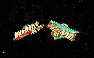 7 Vtg Budweiser Bud Light Bowl X Ten 2000 Super Bowl Lapel Pin & Bud Bowl 6 Lot