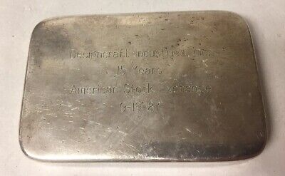 VTG AMERICAN STOCK EXCHANGE TIFFANY & CO. STERLING SILVER WEIGHTED (Tiffany Exchange)