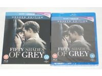 Fifty shades of grey BLU RAY DVD, unseen edition Brand new sealed digital hd UV