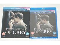 Fifty shades of grey BLU RAY DVD, unseen edition Brand new sealed digital hd UV
