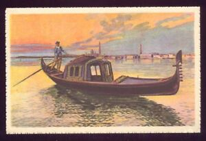 The-View-with-the-Gondola-Venice-Italy-Vintage-Unused-Postcard