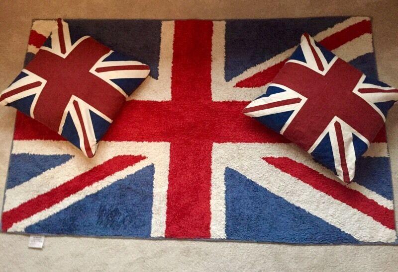 Next Union Jack Rug Cushions