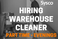 Evening Warehouse Cleaner - Part Time