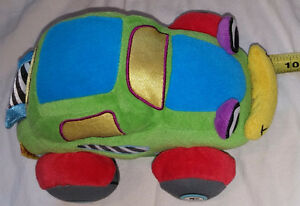 Plush SoftPlay Car with Velcro Story Book & Velcro Trunk Flap