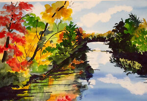 Acrylic abstracted landscape or Watercolour Sampler Courses