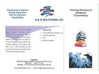 Tutoring and Student's Consultancy
