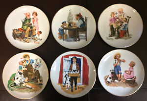 14 Norman Rockwell Plates - LIKE NEW