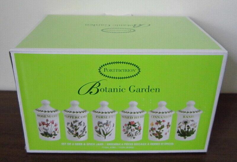 New Portmeirion Botanic Garden Set of 6 Assorted Herb Spice