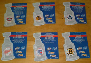 NHL - set of 6 Original Six Stanley Cup magnets