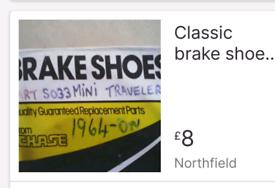MINI/Metro Brake Shoes