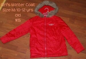 Girl's winter outerwear size 10-12 in Excellent condition