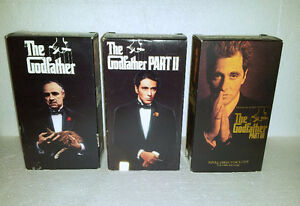 Godfather Set of 6 VHS tapes