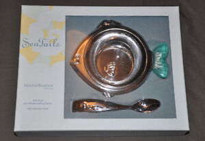 """BRAND NEW Reed & Barton """"Sea Tails"""" Stainless Steel Feeding Set"""