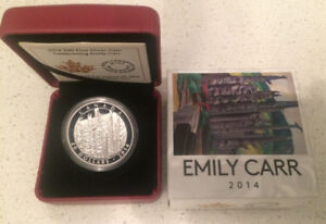 2014 Canada $20 Emily Carr Totem Forest 1oz Fine Silver Coin