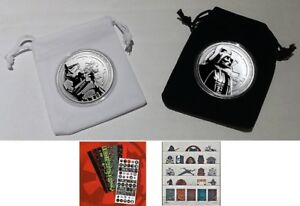 Star Wars Silver Darth Vader &  Silver Storm Trooper Coin Set