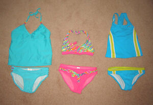 Swimsuits and Shorts - size 7, 8, 10, 10-12, 12, 14