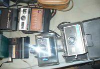 box lot of Polaroid  camra's  and Accessories