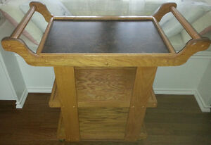 Red Oak Tea Cart.Custom-made