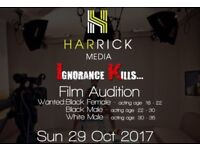 Actors and actresses wanted for film role. Please read carefully