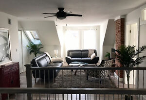 Third floor apt. available for monthly rental Feb -May