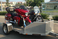 2 place aluminum motorcycle trailer for rent