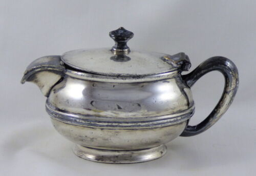 Antique 1930 NICKEL PLATE ROAD Railroad Silver Soldered 8 oz. Teapot