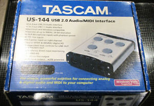 Tascam US-144 USB 2.0 Audio/MIDI Interface !
