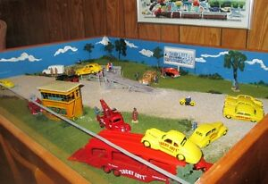 32 Dinky Toys with Dare Devil Diorama c.1950 Lucky Lott display