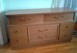 ON HOLD 8 Drawer Mid Century Century Birch Dresser