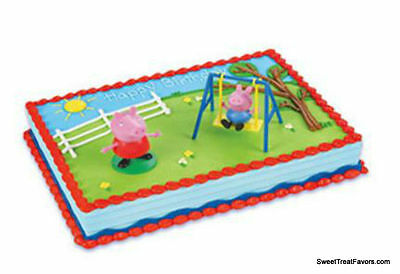 Peppa Pig Party CAKE Topper Decoration Birthday Cupcake Pets Piggy Animals Favor