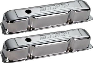 SBC V/8 Chromed Valve Covers.
