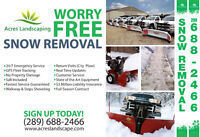 Worry Free Snow Removal (Commercial , Parking lots, Plazas)