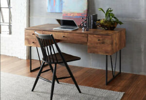 Trent Austin Design: Granite 4 Drawers Writing Desk (assembled)