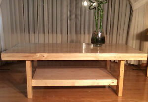 Maple coffee table ,reclaimed wood furniture
