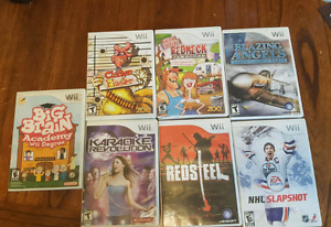 Wii games 5$ each. Would prefer all of them be taken.