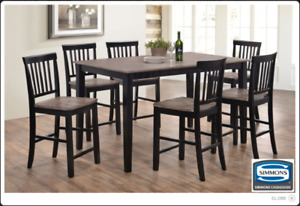 Brand NEW Weston 5PC Counter Height Dinette! Call 780-437-0808!