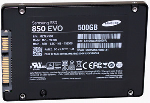 500gb Samsung 850 Evo SSD ($150 if sold today)