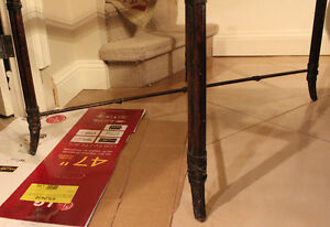 """Glass table for sale 39"""" H x 25"""" W x 22"""" H Stratford Kitchener Area image 3"""
