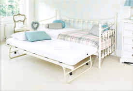 white Daybed with trundle bed free assembly service and local delivery