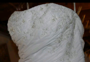 White ~size 12 wedding dress, professionally cleaned