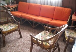 Ratan Couch and 4 Arm Chairs Peterborough Peterborough Area image 2