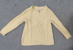 Toddler girl winter knit sweater top size 2A - washed not worn