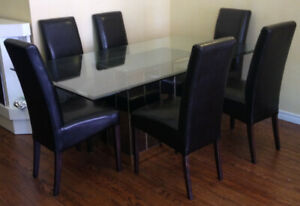 Gorgeous Glass Dining Table With 6 Chairs
