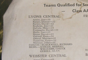 1961 Jim Boeheim LYONS Basketball Program / Orange NCAA Kingston Kingston Area image 3