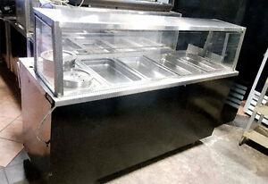FOOD WARMER DISPLAY WITH SNEEZE GUARD