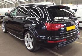 2012 BLACK AUDI Q7 3.0 TDI QUATTRO S LINE + DIESEL AUTO CAR FINANCE FR £83 PW